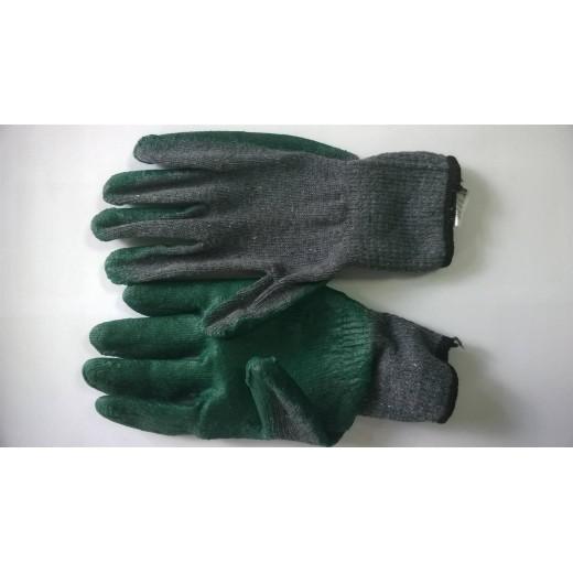 Перчатки арт. 416 (р.10,5) (серо-зеленые)