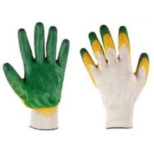 Перчатки трикотажные с 2-м латексным покрытием (индив. упак.) (арт. ПЛ002И)