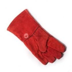 Краги спилковые с подкладкой пятипалые тип «Трек» красные (арт. К503)