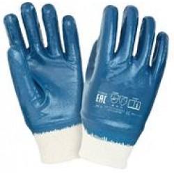 Перчатки х/б с полным нитриловым покрытием, манжет резинка (арт. ПН005)