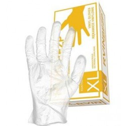 Защитные виниловые перчатки без слоя пудры RVIN-BEZP (арт. 504)
