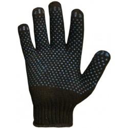 Защитные утепленные трикотажные перчатки с ПВХ точкой