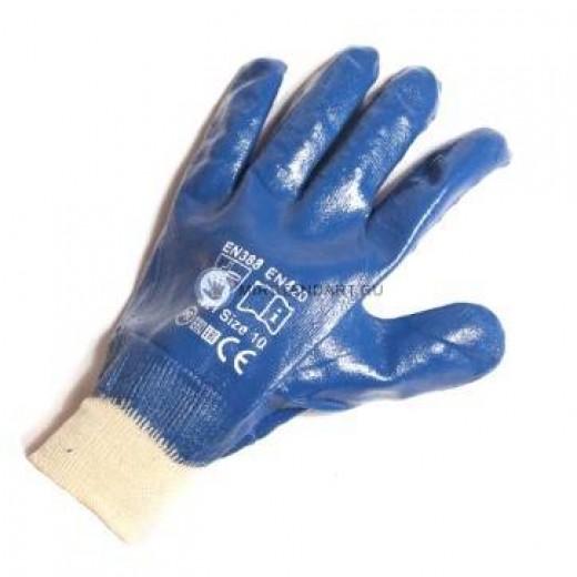 Перчатки маслобензостойкие с полным нитрильным покрытием (арт. Н603)