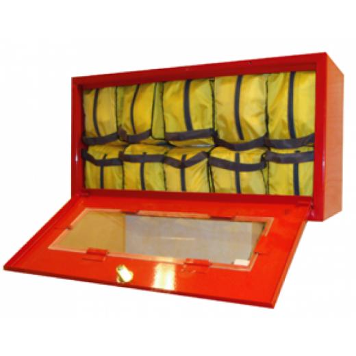 Металлический контейнер для хранения самоспасателя и накидок (10 изделий)
