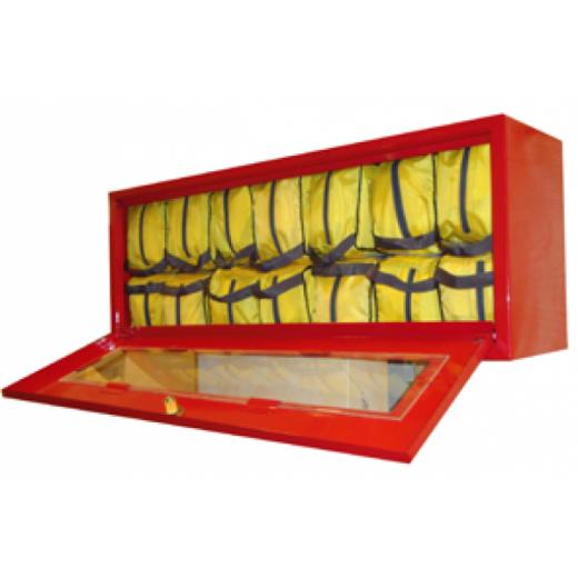 Металлический контейнер для хранения самоспасателя и накидок (14 изделий)