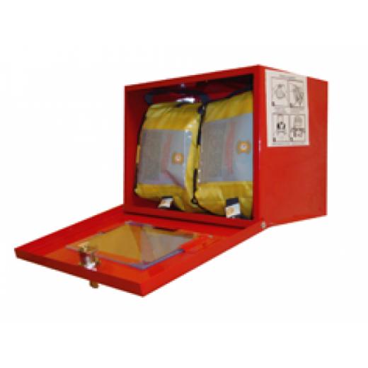 Металлический контейнер для хранения самоспасателя и накидок (2 изделия)