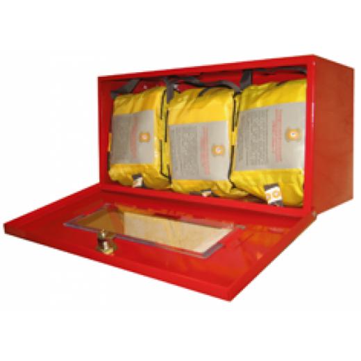 Металлический контейнер для хранения самоспасателя и накидок (3 изделия)