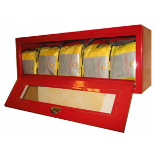 Металлический контейнер для хранения самоспасателя и накидок (5 изделий)