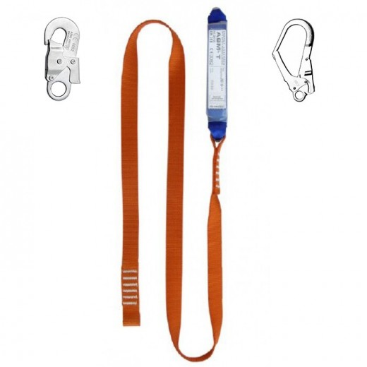 Ленточный строп ABM-T с амортизатором безопасности падения (ABM) и карабинами AZ002 и AZ022
